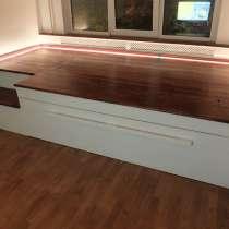 Кровати-подиумы, кровати с каретной стяжкой под Заказ, в Екатеринбурге