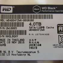 Новый жёсткий диск WD Black 4 TB/128 MB Гарантия!, в Владивостоке
