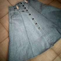 Новая голубая джинсовая юбка-годе 33размера, в Пятигорске