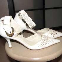 Туфли женские свадебные, натуральная кожа, в Москве