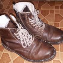 Продам зимние кож. ботинки мужские размер 42 натуральный мех, в Тюмени