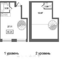 Продам двухкомнатную квартиру, в Санкт-Петербурге