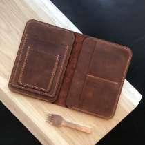 Бумажник для документов из натуральной кожи, в Москве