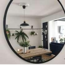 Скандинавское круглое зеркало Svart 80 в тонкой раме, в г.Минск