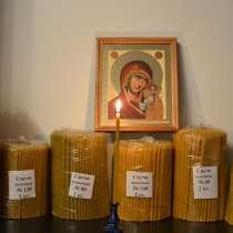 Свечи полувосковые, восковые медовые, праздничные восковые, в г.Чхонан-си