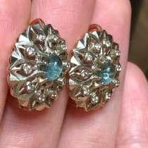 Золотые серьги с бриллиантами, в Санкт-Петербурге