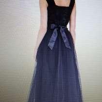 Платье вечернее длинное разм.44-46, бренда papio черный, в г.Гомель