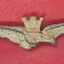 Италия знак Пилот боевого самолета ВВС желтый, в Орле