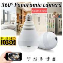 Лампа IP Камера (видеонаблюдения), Wi-Fi 1080P на 360°, в Ярославле