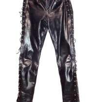 Рокерско-байкерские кожаные брюки разм. 30 (44-46), в Санкт-Петербурге