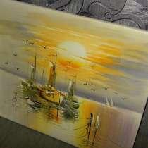 Лодки, 50х60см, Картина маслом на холсте, Художник, в Москве