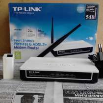 Modem Router TP-LINK 1-port 54Mbps Wireless G ADSL2+, в г.Баку