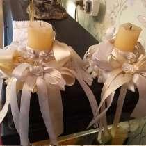 Свадебные подсвечники +подставка для ручек б/у, в Королёве