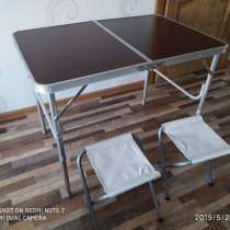 Стол туристический + 2 стула. Новый, запечатан, в г.Минск