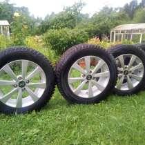 Продам четыре литых колеса шипованой резиной MARSHAL, в Лугах