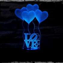 3D светильник ночник лампа, в г.Днепропетровск