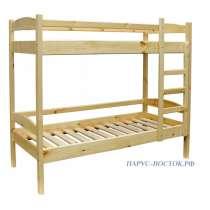 Кровать деревянная двухъярусная из массива сосны, в Владивостоке