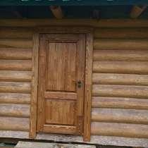 Входные утеплённые двери из массива сосны, в Екатеринбурге