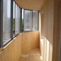 Обшивка балконов вагонкой, в Иркутске