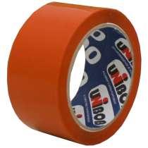 Клейкая лента упаковочная 48мм*66м UNIBOB 600 (оранжевая), в Краснодаре