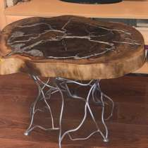 Столик в стиле лофт из массива дерева карагач, в Коломне