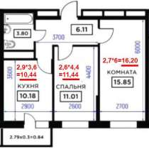 Независимое определение площади квартиры в новостройке, в Краснодаре