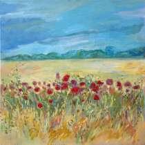 """Картина 40х40см """"Маки в пшеничном поле"""", в г.Могилёв"""