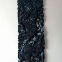 Деревянное пано из Тика в этническом стиле, в Севастополе