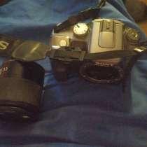 Продам зеркалку Sony DSLR-A100, зарядное и обьектив, в Москве