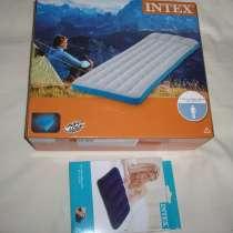 Надувные матрас 189х72х20см Intex и подушка для сна, в Москве
