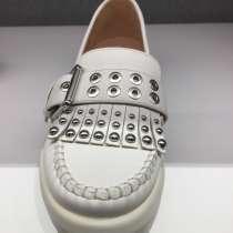 Лоферы новые кожа белые Geox все размеры слизаны туфли стиль, в Москве