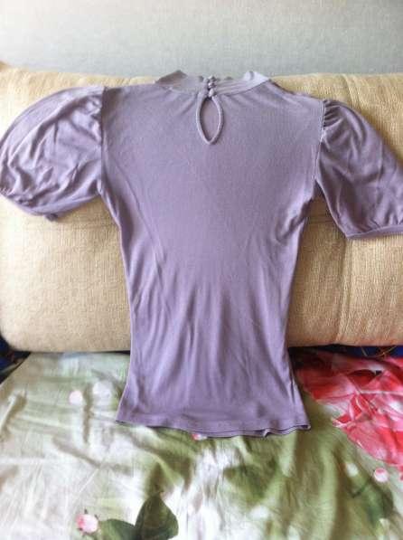 Водолазка с руковом- фонариком нежно фиолетового цвета