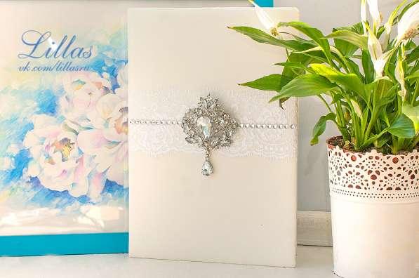 Белая свадебная папка для свидетельства о браке