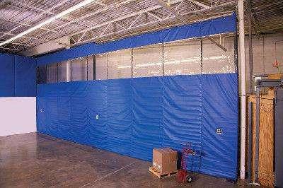 ПВХ шторы и занавеси для склада