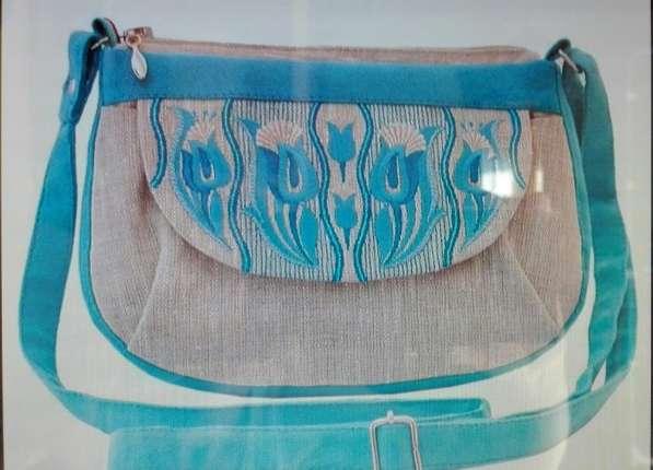 Эксклюзивные женские сумки ручной работы из льна,джинсы,кожи в Москве фото 7