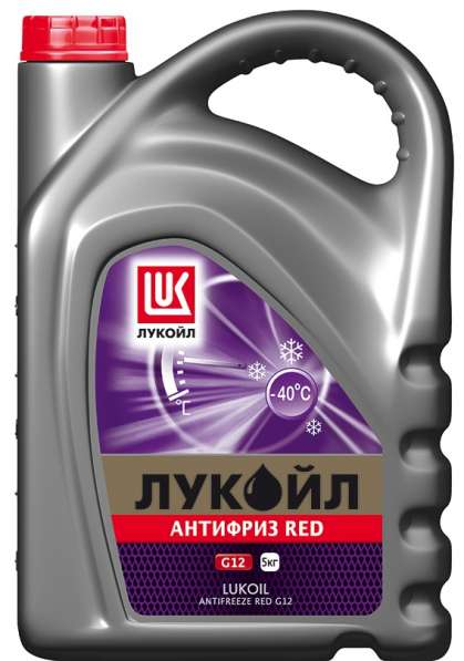 Антифриз ЛУКОЙЛ G-12 красный 5 литров