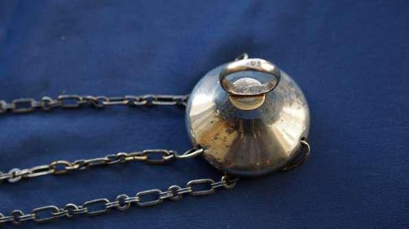 Лампада подвесная серебряная с ажурным орнаментом. 1881 год в Санкт-Петербурге фото 6