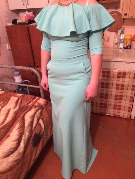 Платье в пол вечернее