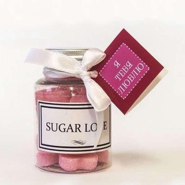 Фигурный сахар - сердечки, звезды и т. п