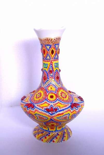 Интерьерные фарфоровая ваза