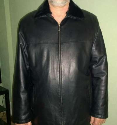 куртка черная кожаная 56 р-р, 5 рост классика