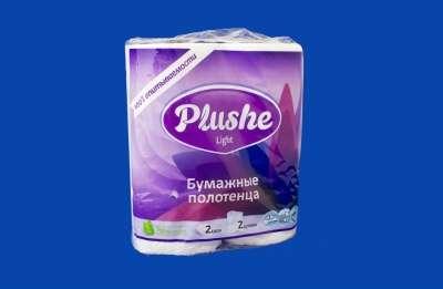 Бумажные полотенца 2 слоя (Plushe, Лова)