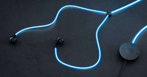 Светящиеся наушники + MP3 плеер iShuffle, SD карта, подарок