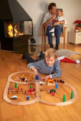 Детская игрушка железнодорожная линия biltema швеция