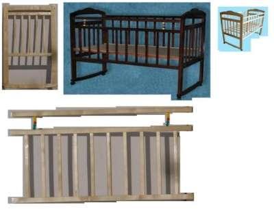 Кровать Ника №2; Новая; КОЛЕСО+КАЧАЛКА 120*60см; Евровинты