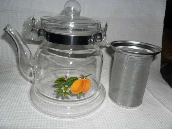 Заварной чайник с ситцем