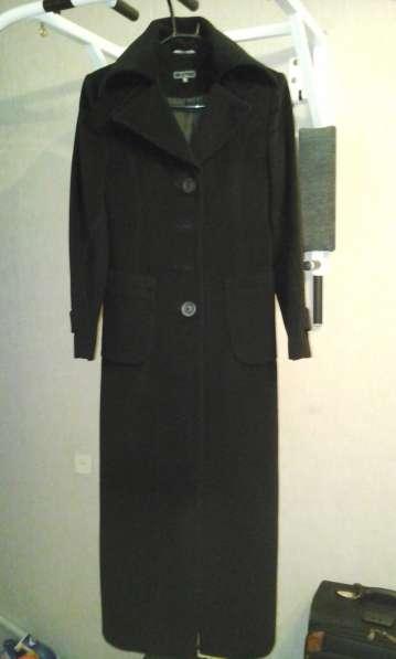 Пальто Черное длинное, Полушубок бобер светлого цвета