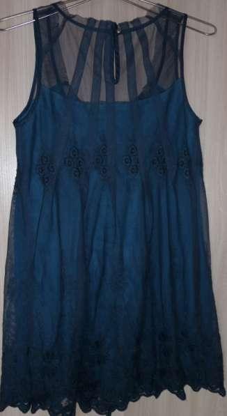 Платье-туника-сарафан цвета морской волны, р-44(46)