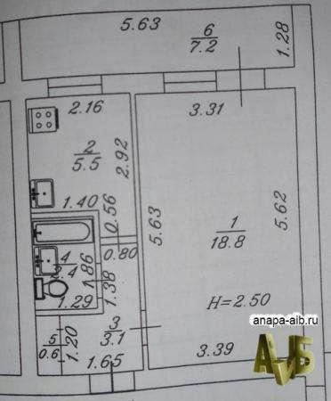 Продается квартира в Анапе