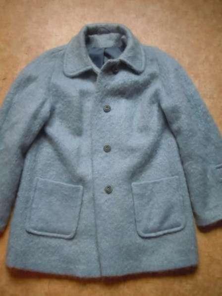 Пальто пушистый шотландский мохер